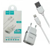 СЗУ HOCO C11 single USB port + Lighting 1A (White)