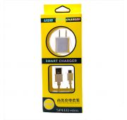 СЗУ CHARGER WHITE BS TONG + USB -> microUSB